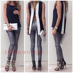 Parker open back top,  J Brand metallic jeans,  Giuseppe Zanotti heels