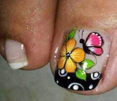 You Nailed It, Fingers, Nailart, Nail Designs, Floral, Toe Nail Art, Short Nails, Pedicures, Nail Desings