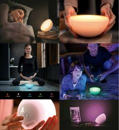 There's something serene and calming about Philips' Hue Go light. It fits in the palm of your hand, is washed in white, and has this meditative Home Design Decor, Design Ideas, Phillips Hue Lighting, Philips Hue, Hue Color, Mood Light, Yanko Design, Heaven Sent, Online Shopping