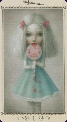 Nicoletta Ceccoli Tarot | Also known as Ceccoli Tarot The Nicoletta Ceccoli Tarot has 78 ethereal, dreamlike cards created by the Italian artist of the same name. Her tarot world is haunting, a little melancholy, a place of dollhouses and child-like storybook imagery where only the rules of imagination apply.