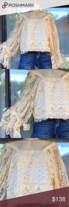 O'Susanna New York exquisite hand made lace top With cotton lining,worn once,egg shell color O'Susanna New York Tops