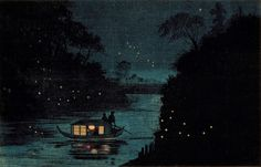 Kobayashi Kiyochika, Fireflies at Ochanomizu
