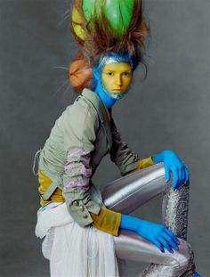 Loving the alien Fashion by John Galliano, photo by Steven Meisel for Vogue