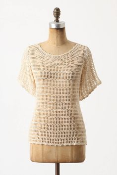 Crochet Inspiration from Anthropologie-looks great for summer