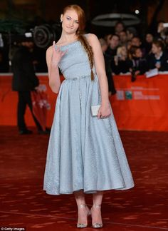 Rock on! Sophie Turner attends the Another Me premiere during The 8th Rome Film Festival at Auditorium Parco Della Musica on Friday