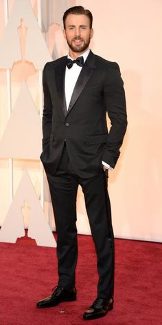 Academy Awards 2015 Red Carpet Arrivals - Chris Evans from #InStyle