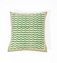 FACEBOOK+GIVEAWAY++Handblock+Pillow+in+green+16x16+by+gypsya,+$26.00