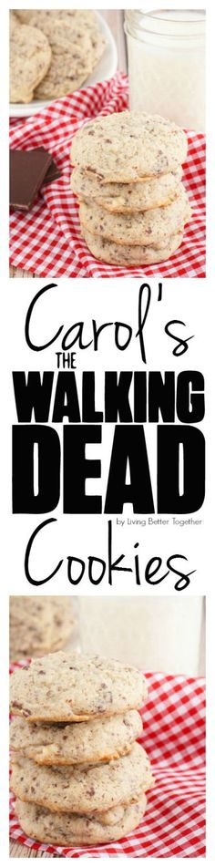 Carol's Walking Dead Cookies have an old fashioned sweetness laced with little bits of chocolate. They're perfect for enjoying a Walking Dead marathon with!