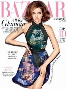 Magazine photos featuring Camilla Belle on the cover. Camilla Belle magazine cover photos, back issues and newstand editions. Beauty Editorial, Editorial Fashion, Glamour Movie, Camila Belle, Get Glam, Young Fashion, Dress Makeup, Green Print, Harpers Bazaar