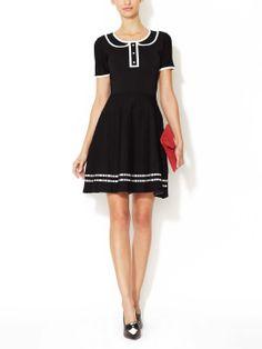 Trompe L'Oeil Fit & Flare Dress by Pink Tartan at Gilt