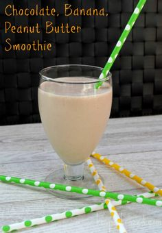 Chocolate, Banana, Peanut Butter Smoothie Recipe