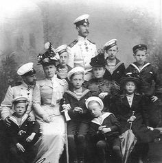 Grand Duke Constantine and his large family.