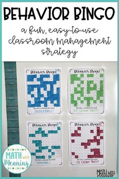 Behavior Bingo: My Favorite Classroom Management Tool » Math With Meaning