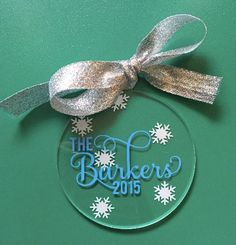 Personalized Christmas Ornament by MonogrammedByMegan on Etsy