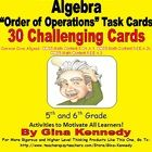 "A+must+have+for+teaching+""ORDER+OF+OPERATIONS""+in+your+classroom.+A+set+of+30+task+cards+to+give+your+students+additional+practice+with+factors+and..."