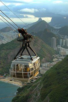 Cable Car up Sugar Loaf (pao de acucar), Rio de Janeiro, Brazil