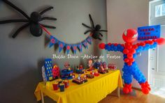 O sitio do bolo: Decoração de Festa Homem Aranha Birthday Decorations, Birthday Party Themes, Happy Birthday, Ideas Para Fiestas, I Party, Dragon Ball, Spider Man Birthday, Spider Man Party, Ideas Aniversario