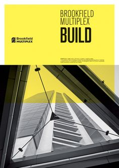 Brookfield Multiplex Corporate Brochures by Tiana Vasiljev, via Behance