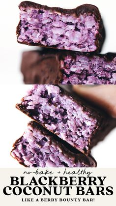 Blueberry Recipes, Healthy Blackberry Recipes, Vegan Recipes, Raspberry Recipes, Cooking Recipes, Vegan Treats, Just Desserts, Healthy Blueberry Desserts, Delicious Desserts
