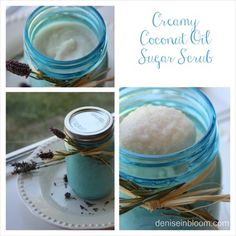 Homemade Creamy Coconut Oil Sugar Scrub Recipe