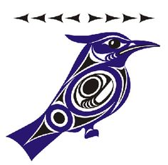 Native depiction of blue jay