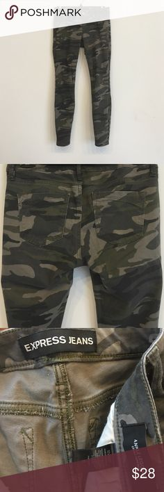 Express camouflage jeans These jeans are in great condition! Very comfortable! Express Jeans Skinny