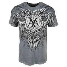 affliction shirts | ... Shirts › Affliction › Affliction Mens Clawed T Shirt, Silver