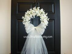 spring wreath summer wreath wedding front door by aniamelisa