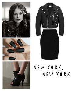 """""""Night out"""" by slim-thick ❤ liked on Polyvore featuring Yves Saint Laurent, VIVIER and L.K.Bennett"""