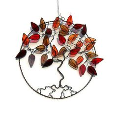 Stained Glass Tree Of Life - Autumn, by Raven's Stained Glass via Folksy, £65.00