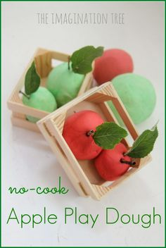 No cook apple play dough recipe with secret way to add natural scent!