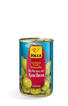 Rellenas con anchoa lata 314 ml #aceitunasrellenas #anchoa #Jolca