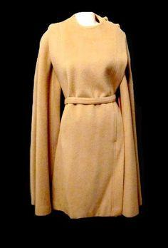 vintage WOOL CAMEL CAPE Poncho Jacket Coat by welovelucite on Etsy, $75.00
