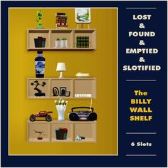 Mod The Sims - Billy Wallshelf - now slotified Sims 2, Lost & Found, Wall Shelves, Ikea, Maxis, Bookcases, Objects, Ikea Co, Libraries