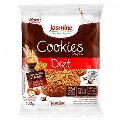 Os Cookies Integrais Diet Capuccino e Avelã da Jasmine são elaborados com ingredientes integrais e naturais! São fonte de fibras, sem leite e derivados, e isento de conservantes! Compre online e receba na sua casa!