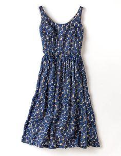 nancy dress : navy etched spot