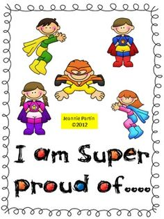 Pride Folder Cover - each child has a pride folder – a folder in which they can place papers, grades, projects, awards, and other things they are proud o...
