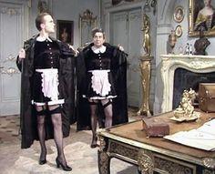 Femulating on British television's 'Allo 'Allo! circa 1987.