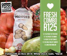 Anyone keen for some watermelon? Don't miss our FRESH combo on special this week! Ends 23 Nov 2014. *E&OE, while stock lasts. Available from Food Lover's Market Knysna. #FLMKnysna #special #WeLoveFresh