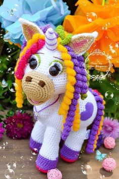 knitting, wears, scarves, berets come to mind. now you have a different option: amigurumi. Crochet Unicorn Pattern, Crochet Horse, Crochet Toys Patterns, Crochet Animals, Stuffed Toys Patterns, Crochet Dolls, Knitting For Kids, Cute Crochet, Crochet Gifts