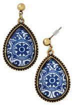 Delft of Possibilities Earrings | Mod Retro Vintage Earrings | ModCloth.com