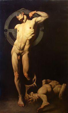 """""""Oraculum"""" olio su tela 250x150  by Roberto Ferri"""