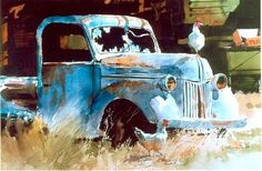 For a boys room. Only I'd paint my dad's '47 Dodge.