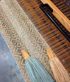 True North Textiles - Custom Handwoven Rugs — Off the loom Weaving Loom Diy, Inkle Loom, Weaving Art, Tapestry Weaving, Weaving Designs, Weaving Projects, Weaving Patterns, Stitch Patterns, Knitting Patterns