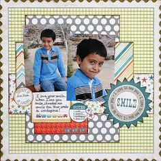 My Mind's Eye - lime twist collection scrapbook layout   Life Of The Party and Out Of The Blue: A Cherry On Top