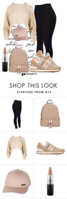 """""""#sportystyle"""" by ana-anny-blagojevic ❤ liked on Polyvore featuring MICHAEL Michael Kors, New Balance, Billabong, MAC Cosmetics and sportystyle"""