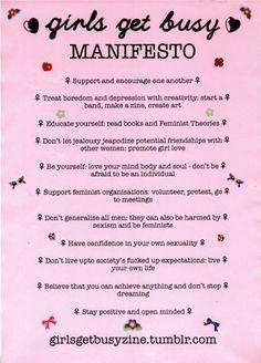 feminist manifesto summary