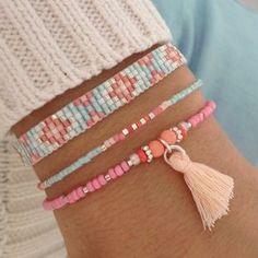 Mint15 armbanden set - baby blue, pink en zilver - available via www.capricci.nl   #armbandenset #armbanden #set #beads #bracelets #armparty #armcandy #zilver #tassel #mint15 #capricci #capricci.nl