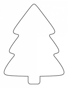 Simple Christmas Tree Pattern … Simple Christmas Tree Pattern More christmas appetisers, christmas whimsy, christmas zentangle Christmas Tree Outline, Christmas Tree Stencil, Christmas Tree Printable, Christmas Tree Template, Christmas Tree Pattern, Preschool Christmas, Felt Christmas Ornaments, Christmas Sewing, Christmas Colors