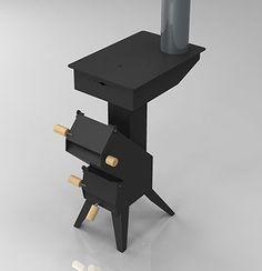 Madera cohete horno de gasificación